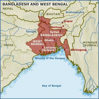 map of Bengal