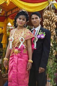 Cambodian newlyweds