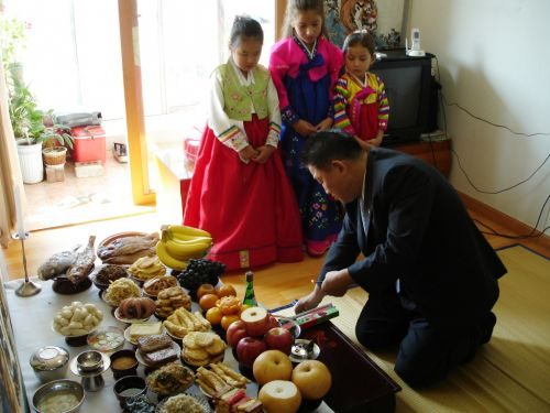 Chuseok offerings