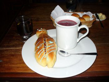 Colada morada and Guagua de pan