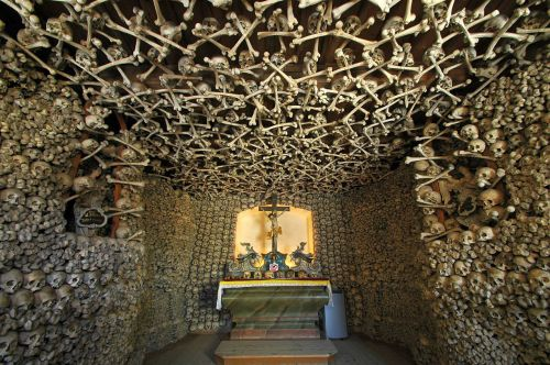 Skull chapel in Czermna, Poland (photo by Merlin)