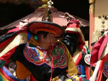 Dance of the Black Hats at the Paro Tsechu