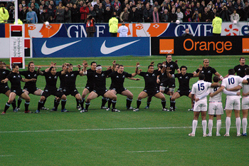 Haka dance by the All Blacks rugby team