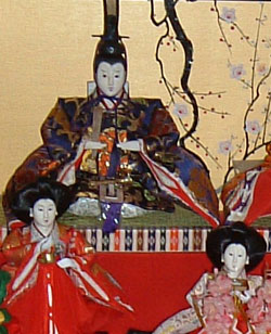 Emperor Doll and two court ladies