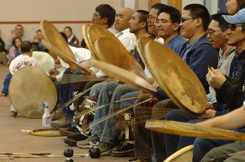 Inupiat drummers