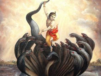 Lord Krishna and Kalia