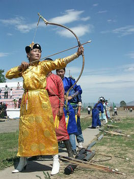 Female archery competition