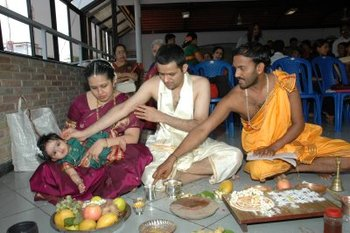 Birth cleansing rites hinduism ramani 39 s blog for Annaprasana decoration