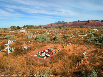 Navajo Cemetery in Lukachukai, Arizona