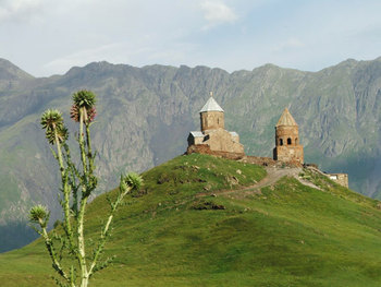Sameba church in Kazbegi