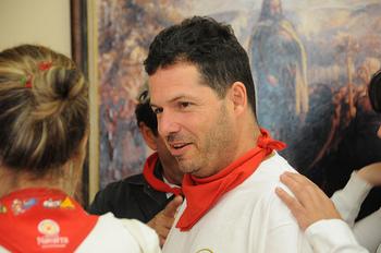 Participant in the San Fermin festival