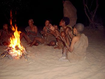 San people singing