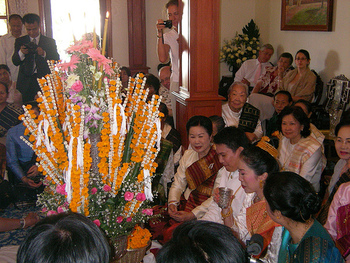 Baci ceremony in Laos