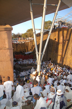 Ganna pilgrimage at Bet Maryam, Lalibela