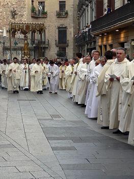 Corpus Christi procession in Barcelona