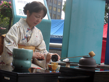 Japanese tea ceremony (photo by Josh Berglund)