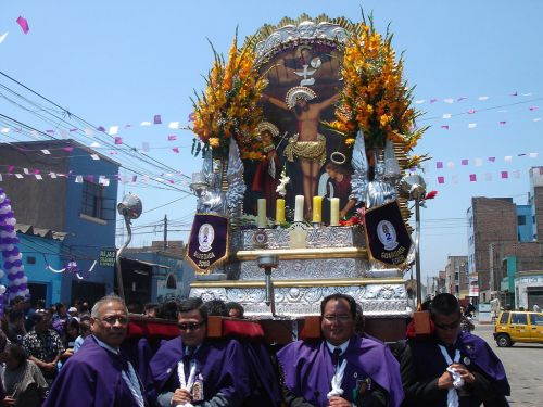 Lord of Miracles procession in Lima
