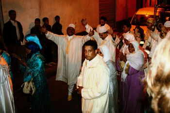 Moroccan wedding party in Casablanca