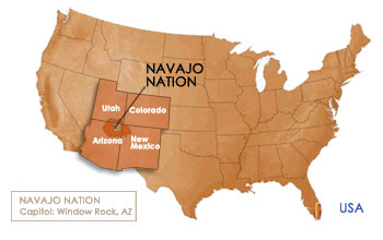 Map of the Navajo nation