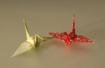 guindastes origami