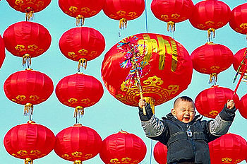 Red colour in China