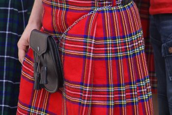 Where can I find a family tartan pattern for a Scottish kilt