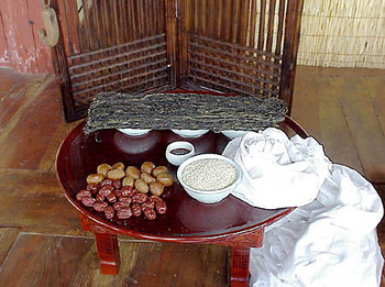 traditional Korean praying table