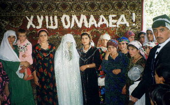 Traditional Tajik wedding