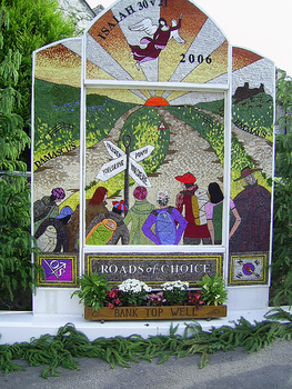 Well dressing in Yougreave, Derbyshire